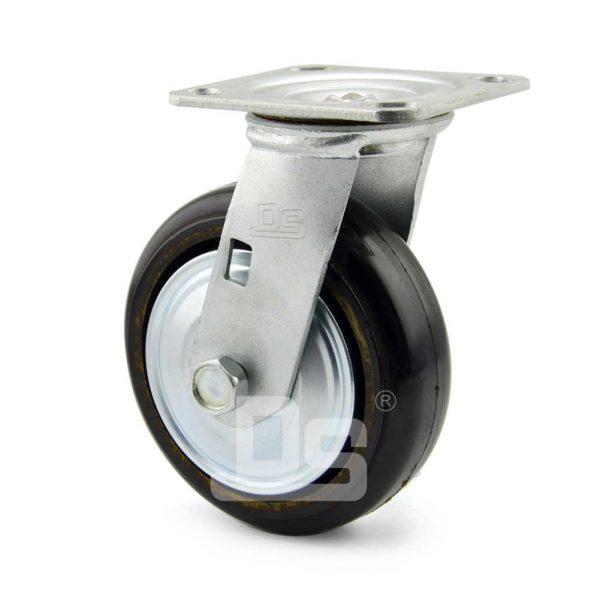 34-Series-Roller-Bearing-Top-Plate-Medium-Duty-rubber-cast-iron-Swivel-caster-wheels-3