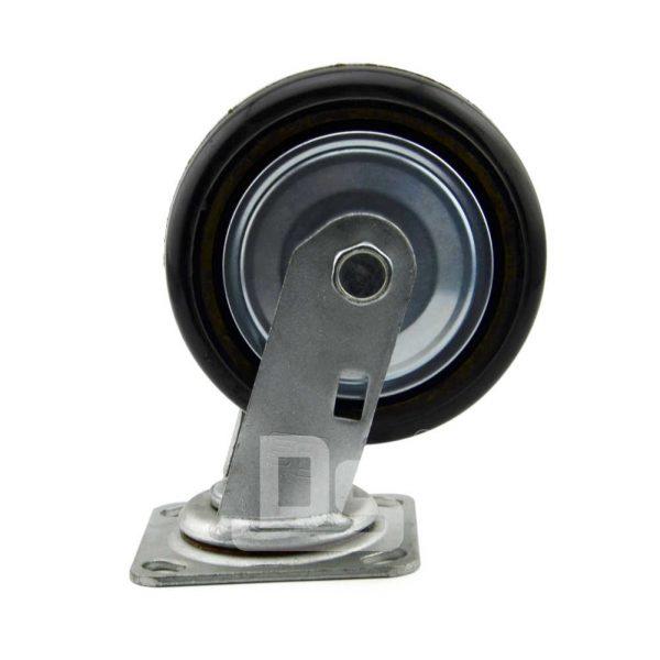 34-Series-Roller-Bearing-Top-Plate-Medium-Duty-rubber-cast-iron-Swivel-caster-wheels-4