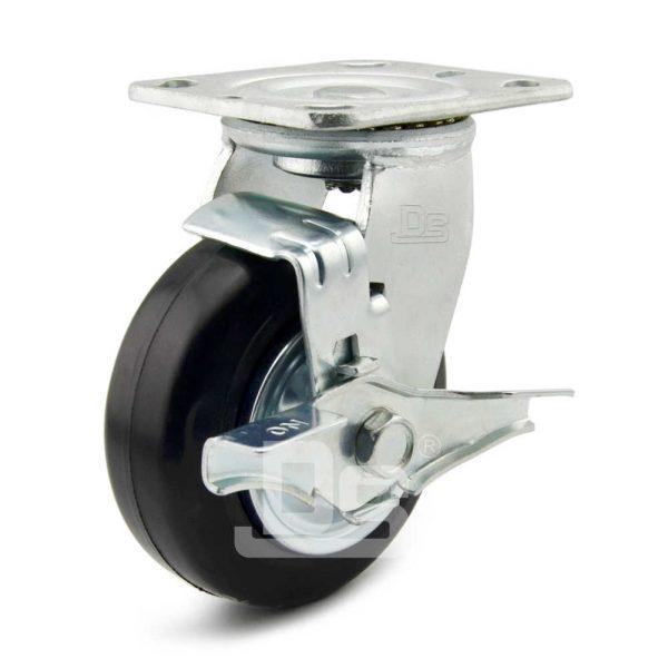 Heavy-Duty-Advanced-Rubber-Cast-Iron-Swivel-Caster-Wheels-with-Side-Lock-Brake-1