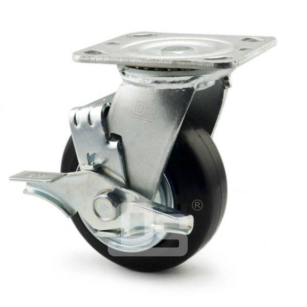 Heavy-Duty-Advanced-Rubber-Cast-Iron-Swivel-Caster-Wheels-with-Side-Lock-Brake-3