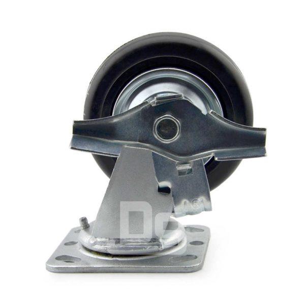 Heavy-Duty-Advanced-Rubber-Cast-Iron-Swivel-Caster-Wheels-with-Side-Lock-Brake-4