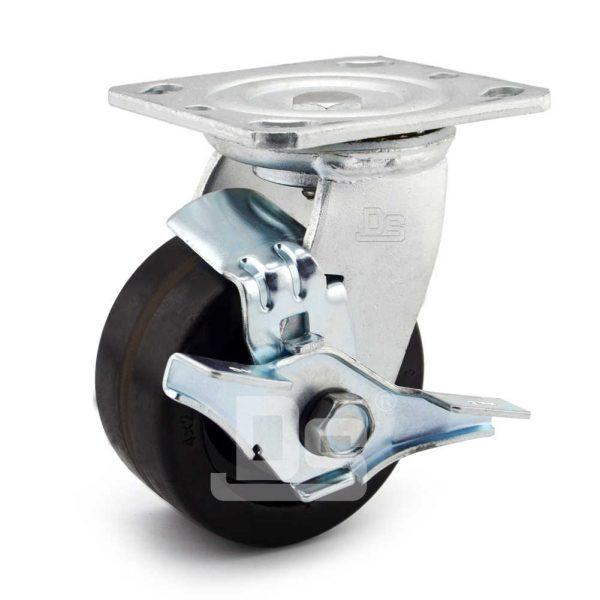 Heavy-Duty-Phenolic-150℃-Swivel-Caster-Wheels-with-Side-Lock-Brake-1