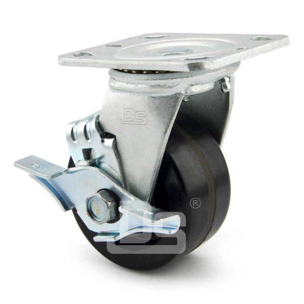 Heavy-Duty-Phenolic-150℃-Swivel-Caster-Wheels-with-Side-Lock-Brake-2