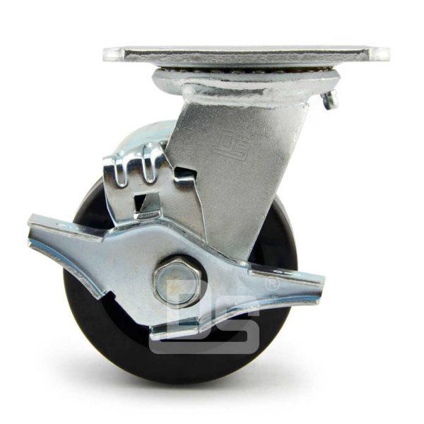 Heavy-Duty-Phenolic-150℃-Swivel-Caster-Wheels-with-Side-Lock-Brake-3