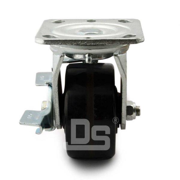 Heavy-Duty-Phenolic-150℃-Swivel-Caster-Wheels-with-Side-Lock-Brake-4