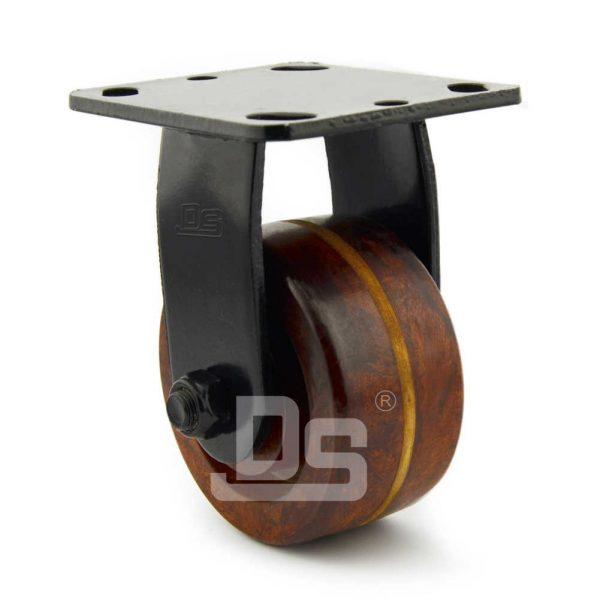 Heavy-Duty-Phenolic-260℃-Rigid-Caster-Wheels-2