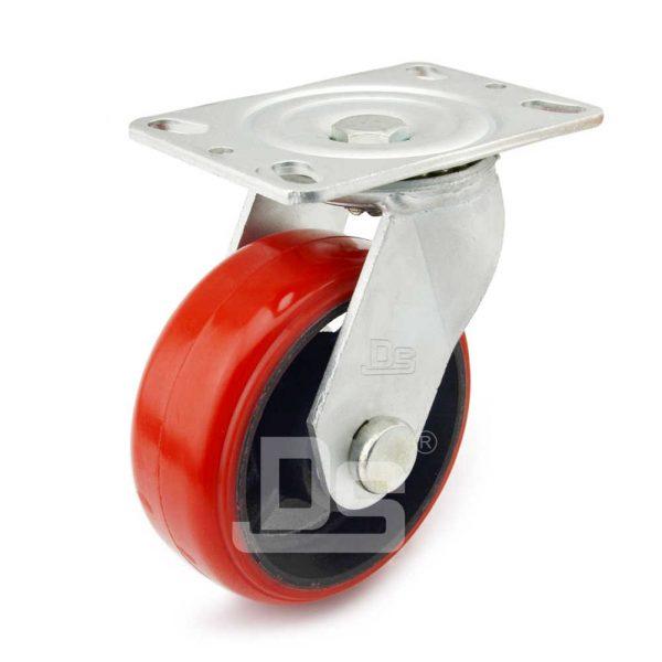 Heavy-Duty-Polyurethane-Cast-Iron-Swivel-Caster-wheels-1