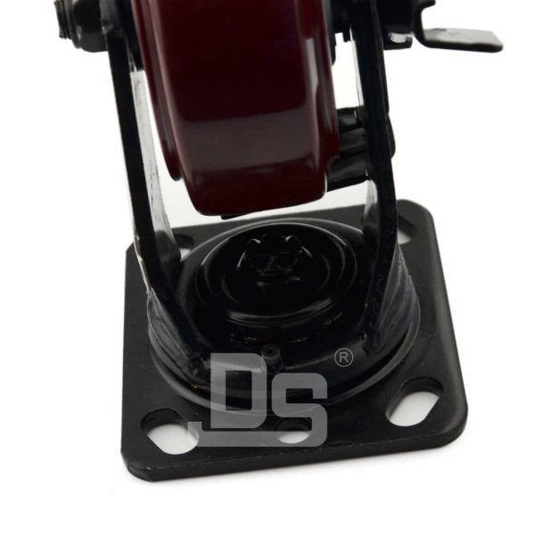 Heavy-Duty-Polyurethane-Swivel-Plastic-Wheels-with-Side-Lock-Brake-5