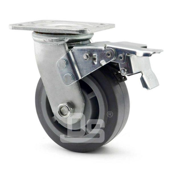 Heavy-Duty-TPE-PP-Swivel-Plastic-Wheels-with-Dual-Lock-Brake-3