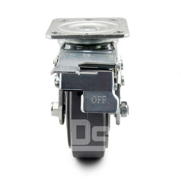 Heavy-Duty-TPE-PP-Swivel-Plastic-Wheels-with-Dual-Lock-Brake-4