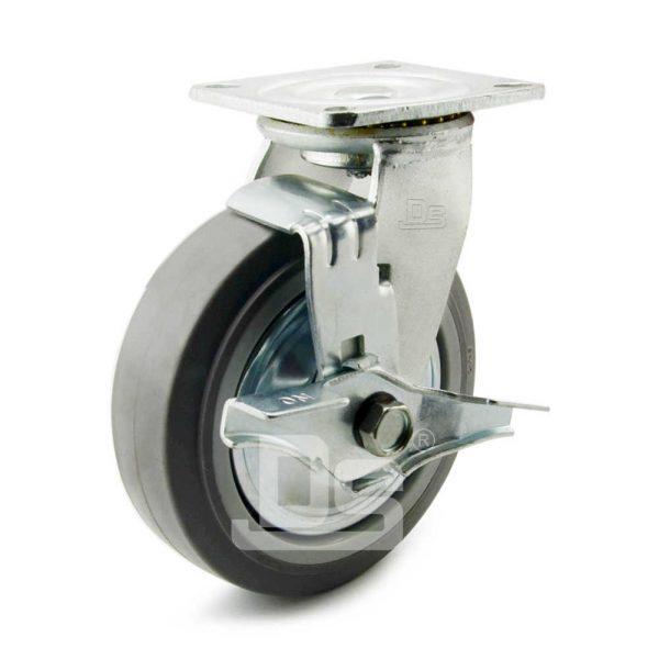 Heavy-Duty-TPE-PP-Swivel-Plastic-Wheels-with-Side-Lock-Brake-1