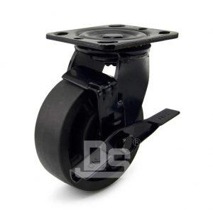Light-Duty-Nylon-and-Glass-Fiber-Swivel-Caster-Wheels-with-Side-Lock-Brake-230-1-1
