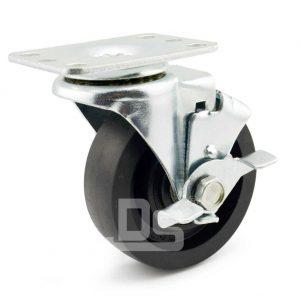 Light-Duty-Nylon-and-Glass-Fiber-Swivel-Caster-Wheels-with-Side-Lock-Brake-230-1