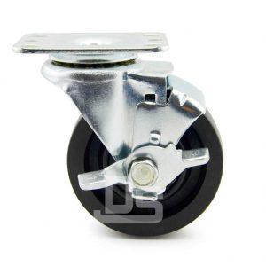 Light-Duty-Nylon-and-Glass-Fiber-Swivel-Caster-Wheels-with-Side-Lock-Brake-230-2