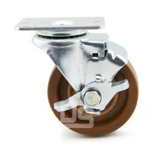 Light-Duty-Nylon-and-Glass-Fiber-Swivel-Caster-Wheels-with-Side-Lock-Brake-280-2