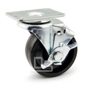 Light-Duty-Swivel-Phenolic-150°-Caster-Wheels-with-Side-Lock-Brake-1