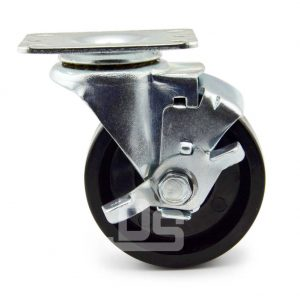 Light-Duty-Swivel-Phenolic-150°-Caster-Wheels-with-Side-Lock-Brake-2