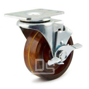Light-Duty-Swivel-Phenolic-260°-Caster-Wheels-with-Side-Lock-Brake-1