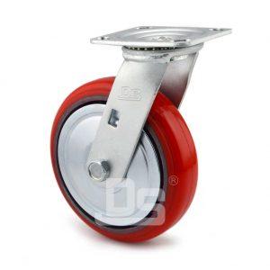 Medium-Duty-Polyurethane-Cast-Iron-Swivel-Caster-wheel-2