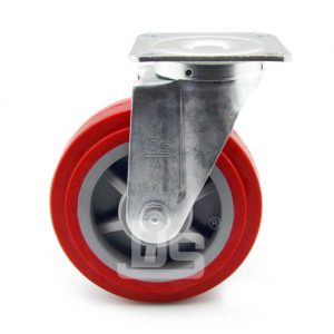 Medium-Duty-Polyurethane-Tread-Plastic-Core-Swivel-Caster-Wheels-2