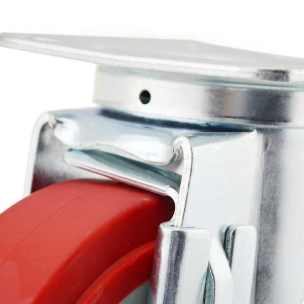 Medium-Duty-Polyurethane-Tread-Plastic-Core-Swivel-Caster-Wheels-with-Side-Lock-Brake-5