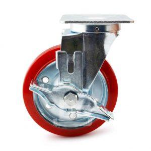 Medium-Duty-Polyurethane-Tread-Splint-Core-Swivel-Caster-Wheels-with-Side-Lock-Brake-2