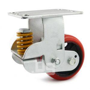 Spring-Shock-Absorbing-Polyurethane-Cast-Iron-Rigid-Caster-Wheels-1