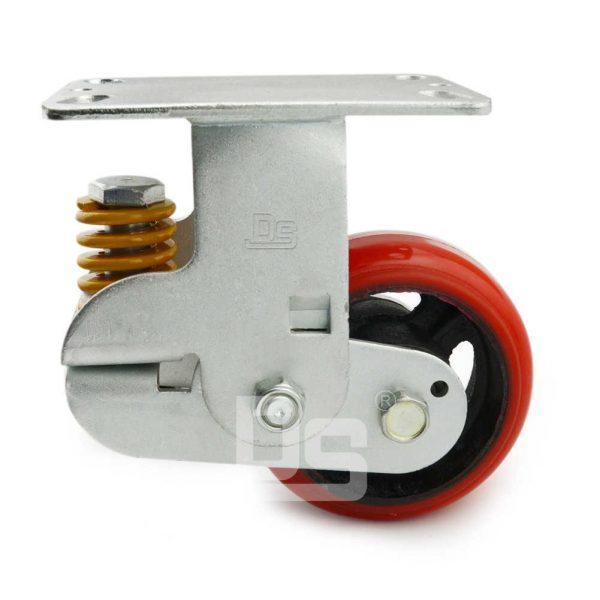Spring-Shock-Absorbing-Polyurethane-Cast-Iron-Rigid-Caster-Wheels-2
