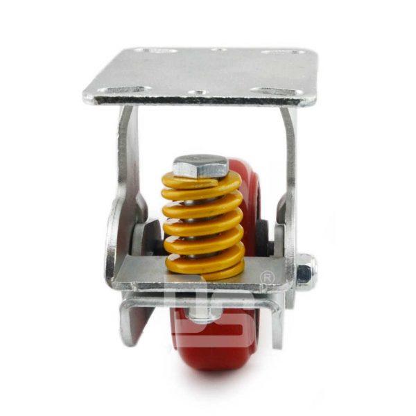 Spring-Shock-Absorbing-Polyurethane-Cast-Iron-Rigid-Caster-Wheels-4